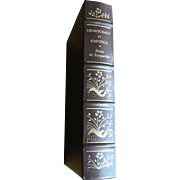 Democracy in America by Alexis De Tocqueville, Palladium Press The Library of American Freedoms, Leather Bound, Like New