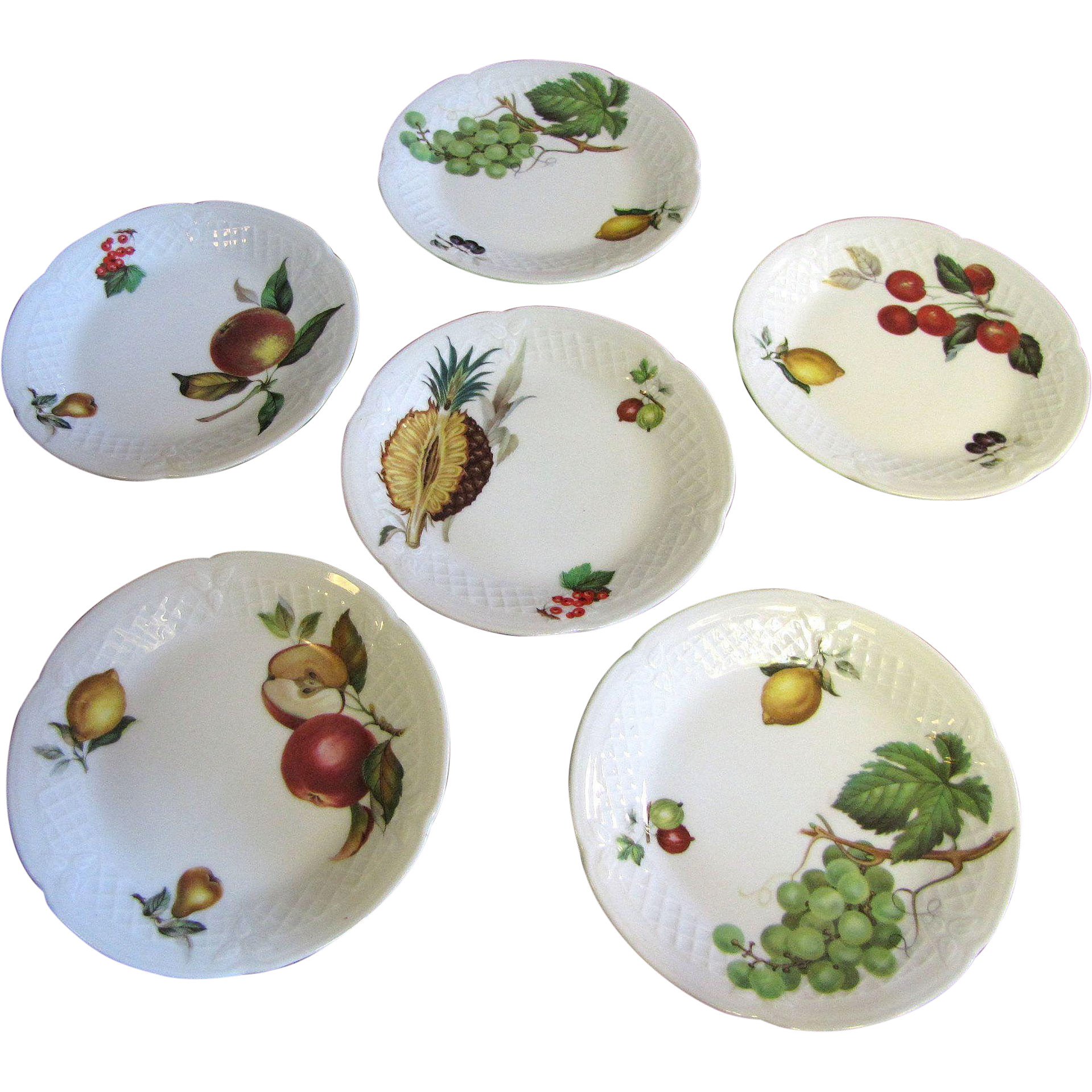 Set of 6 philippe deshoulieres porcelain french limoges for What are canape plates