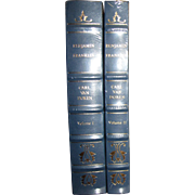Benjamin Franklin, Carl Van Doren, Vol. I & 2, Special Edition Leather & Gold Gilt, Like New Mint!
