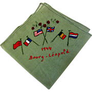 WW2 Bourg Leopold Hankie with Allied Flags