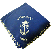 Nice WW2 US Navy Hankie with Anchor Logo