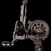 Antique 1880's Sinclair-Scott Ornate Cast Iron Hand Cranked Apple Peeler