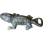 Vintage Silver Plated Gecko Lizard Bottle Opener