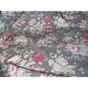 2 1/2 Yds Ralph Lauren Distressed Floral Screen Print