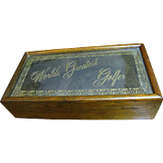 "1970's ""World's Greatest Golfer"" Men's Desk or Jewelry Box by WoodGlassics"