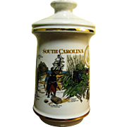 1970 Stitzel Weller Old Fitzgerald Collector's Gallery, Porcelain Liquor Decanter commemorating South Carolina Tricentennial 1670-1970