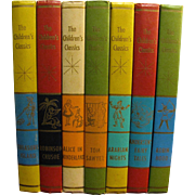 Set of 7 The Children's Classics-1961-Alice In Wonderland, Robin Hood, Tom Sawyer