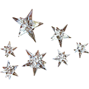 Seven Crystal Star Candleholders by Rosenthal of Germany