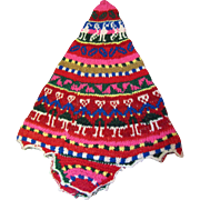 Cute Peruvian Bright Wool Hand Knitted Flap Hat