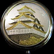 Japanese Art Of Chokin Oriental Temple Pill Box