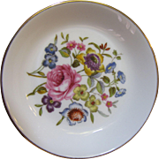 Vintage Royal Worcester Floral Porcelain Trinket Tray, Pretty!