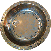 Large Antique Primitive Hand Wrought Moroccan Copper Bowl, Dovetail Joints