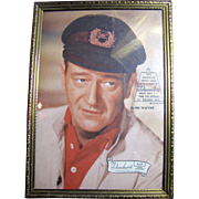 "John Wayne 5"" by 7"" Picture in Swivel Easel by Decorative Arts"