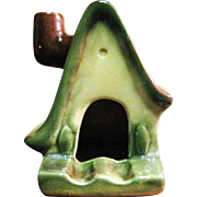 Vintage Ceramic Bavarian Style Cottage Ashtray or Incense Burner with Working Chimney