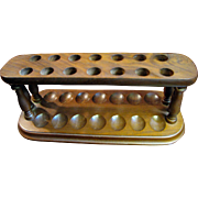 Good Quality 14 Slot Large Mahogany Tobacco Pipe Holder