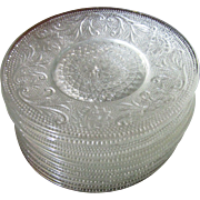 "Set of 10 Clear Crystal Tiara 6"" Bread & Butter Plates by the Indiana Glass Company"