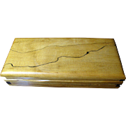 Beautiful Artisan Spalted Wood Pen or Dresser Box, Showy Grains, Exquisite Construction
