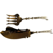 320 Gram Circa 1860 Sterling Silver Fish Serving Set, Ball Black & Co.