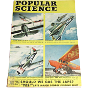August 1945 Popular Science - Wartime Issue -  AAF Moves Against Japan - Airplanes from the Kite to the XP-55