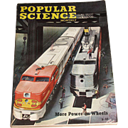 Oct 1946 Popular Science Magazine - More Power on Wheels - Rocket Camera To Shoot Sun -Talking Phone - Trains Push Button Parking