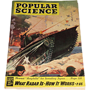 Popular Science Magazine September 1945, Cover by Frederic Tellander - Amphibs for Invading Japan - What Radar is, How it Works - Near Mint