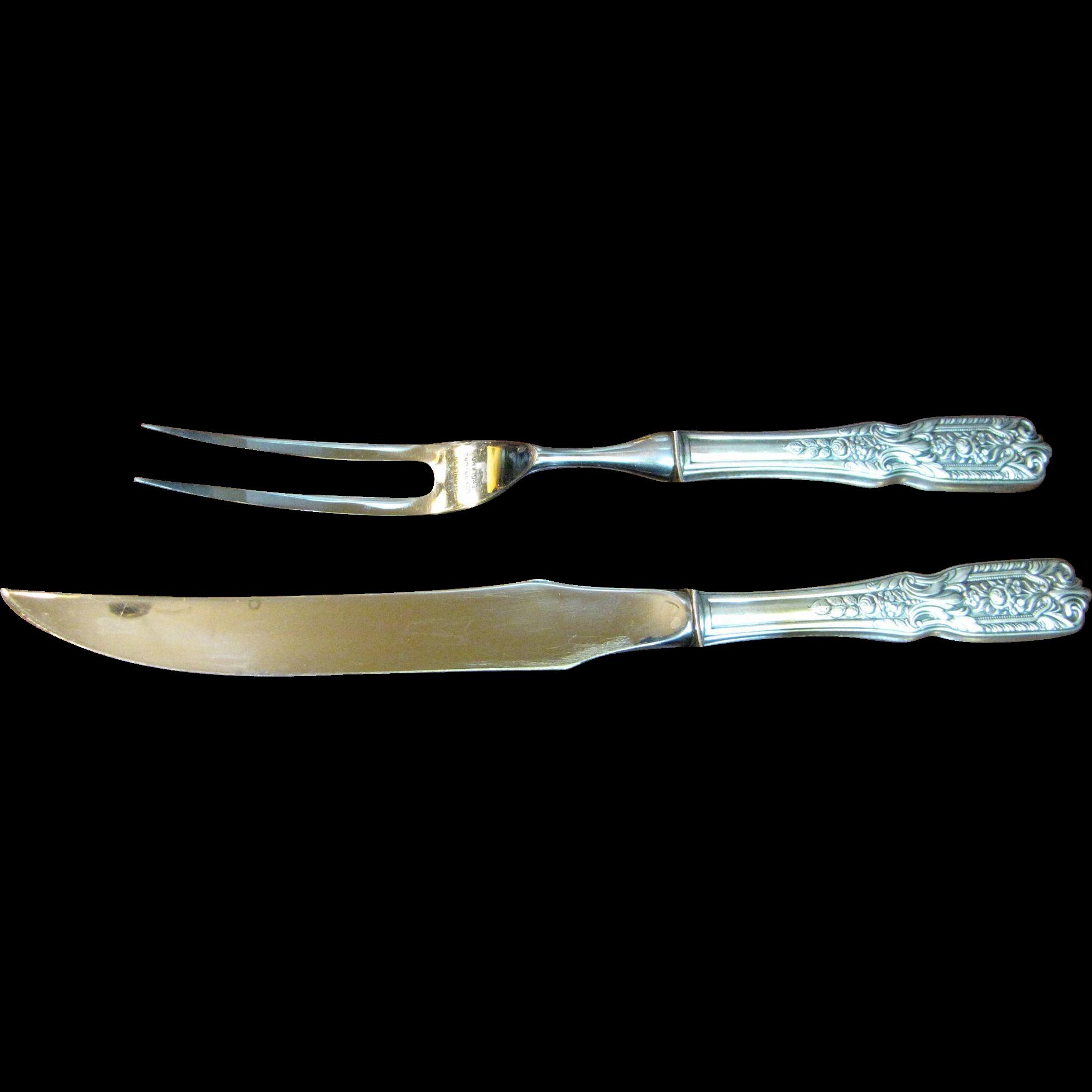 Westmorland quot milburn rose sterling silver carving fork