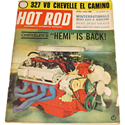 "April 1964 ""Hot Rod"" Magazine - Chrysler Hemi, 327 Chevelle El Camino, 1964 Winternationals"