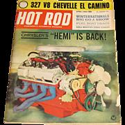 "April 1964 ""Hot Rod"" Magazine - Chrysler Hemi, 327 Chevelle El Camino, 1964 Winternationals"
