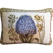 Beautiful Wool Needlepoint & Petite Point Pillow with Feather Insert