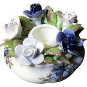 Beautiful Royal Albert Bone China Posy Candle Holder in the Moonlight Rose Pattern (up to 2 available)