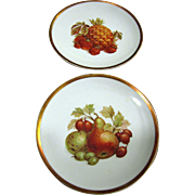 Pair of Bavaria Jaeger Golden Crown Harvest Pattern Plates