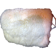 Opulent White Rabbit Fur Muff for Large Doll