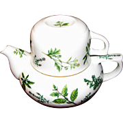 Andrea by Sadek Tea for One Teapot with Teacup, Leaf Design