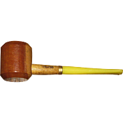 "Vintage Missouri Meerschaum ""Ozark Mountain"" Hardwood Maple Smoking Pipe w/ Straight Bit"
