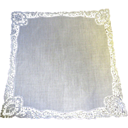 Prettiest White Chemical Lace Wedding Hankie