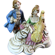 Harris, October, Colonial Musical Couple Figurine by Maruyama of Occupied Japan