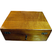 Harris, August Good Quality Vintage Wooden Sewing or Craft Work Box