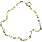 "Antique Victorian Watch Chain 17"" Gold Filled Necklace"