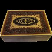 Italian Vintage Sorrento Inlaid Wood Trinket or Cigarette Box