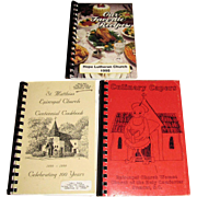 Harris, current - 3 SC Community Church Cookbooks - St. Matthias Centennial Cookbook, Culinary Capers Cookbook and Our Favorite Recipes Cookbook