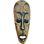 Harris, August Unusual African Tribal Carved and Painted Wall Mask