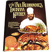 Harris Book Order, Chef Paul Prudhomme's Louisiana Kitchen by Paul Prudhomme, Cookbook Library, Like New, HCDJ, 1984