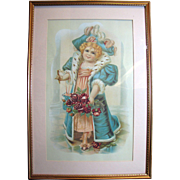 Darling Large Vintage Print of a Little Victorian Girl