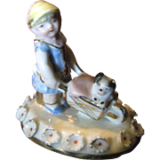 Lid from a Conta Boehme Fairing Box, Child with Dog, Sweet