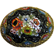 Loveliest Vintage Italian Micro Mosaic Floral Bouquet Pin