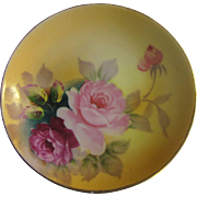 Pretty Hand Painted Rose Tray by Shofu China, Occupied Japan