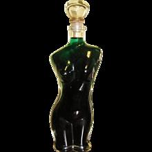 Vintage Kefla Depose Nude Woman Torso Liquor Bottle Empty