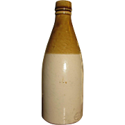"19th Century Tan&Cream Stoneware/Pottery Bottle, Stamped ""Gray of Portobello"""