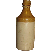 "18th Century Stoneware Pottery Ginger Beer/Ale Bottle with makers mark ""W"""