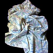 "Vintage Hand Printed Pure Cotton Leaf Design 68"" x 21"" Stole"